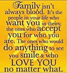 family...loving you, no matter what