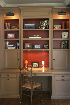 built in desk | Interior Renovation Before & After, Andover, MA | Howell Custom ...