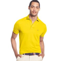 Tommy Hilfiger Men's Big and Tall Solid Ivy Polo (1,885 PHP) ❤ liked on Polyvore featuring men's fashion, men's clothing, men's shirts, men's polos, provence yellow, mens yellow shirt, mens big and tall shirts, big tall mens shirts, mens big and tall polo shirts and mens polo shirts