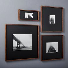 gallery walnut picture frames with black mats | CB2 #pictureframewhite Picture Frame Art, Modern Picture Frames, Modern Pictures, Creative Pictures, Picture Wall, Modern Frames, Brown Picture Frames, Floating Picture Frames, Framed Pictures