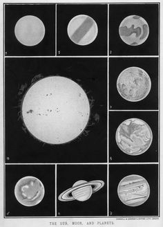"""Cassell London - The Sun, Moon and Planets, """"The Popular Educator: A Complete Encyclopaedia of Elementary, Advanced and Technical Education"""", 1888."""