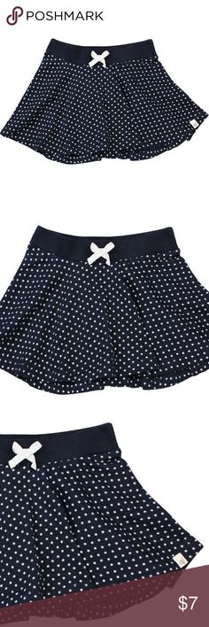 NWT Burts Bees 100% Organic Cotton Skirt, Size 2T Brand New - 100% organic cotton. Stretchy waistband. A decorative white bow is on the front. It is navy blue with white stars. Size 2t. Burt's Bees Baby Bottoms Skirts
