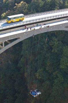 Extreme Hot Tubbing, A Jaccuzi Suspended From 600 Foot High Bridge