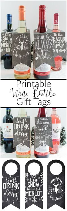 Msg 4 21+  If you need a last minute gift idea or a hostess gift for those Christmas parties, look no further. Give the gift of good wine and good laughs this season with Sutter Home Family Vineyards and fun printable wine bottle gift tags. /sutterhome/ #