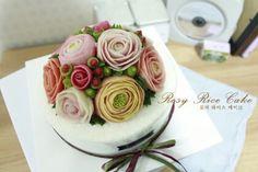 flower rice cake  앙금플라워 떡케익  - ROSY RICE CAKE -  http://blog.naver.com/rosyrice