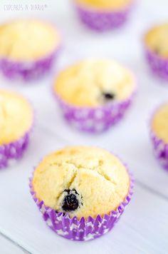 Cupcakes a diario: Magdalenas de arándanos con glaseado de donut y lista de participantes en el sorteo