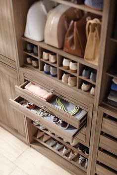 Martha Stewart Living has a great collection of individual pieces that allow you to create custom storage on your own. #closetsystem