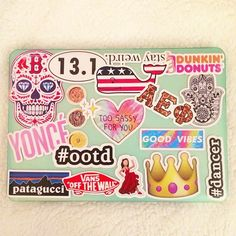 Laptop with Stickers Mac Stickers, Preppy Stickers, Macbook Stickers, Tumblr Stickers, Cute Stickers, Laptop With Stickers, Macbook Decal, Cute Cases, Cute Phone Cases