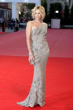 Charlize Theron in Versace... I wish I may... I wish I might. ...