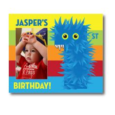 Psychobaby Beastly Boy Birthday Picture Frame - Awesome keepsake! #Monster