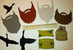 Duck Dynasty inspired photo booth props, Weddings, Birthdays, Beards, Ducks and more on Etsy, $10.00