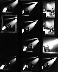 Herman Leonard.   'Duke Ellington, Paris Contact Sheet', 1958