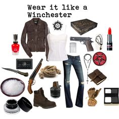 Wear it like a Winchester Cute Geek Outfits, Bad Girl Outfits, Supernatural Inspired Outfits, Supernatural Clothes, Supernatural Baby, Girly Tomboy Fashion, Fandom Fashion, Fandom Outfits, Other Outfits
