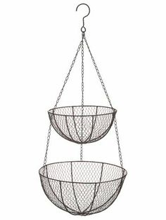 "13.5""Dx30""H Wire Hanging Fruit Basket Brown (Pack of 6) by Silk Decor. $130.59. 13.5""Dx30""H Wire Hanging Fruit Basket Brown. Weight: 28.00 OZ (Pack of 6)Some assembly may be required. Please see product details. Some assembly may be required. Please see product details."