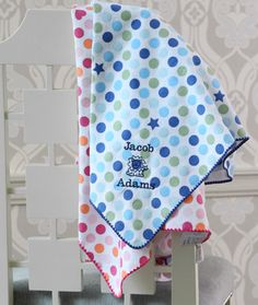 Swaddle with stylish polkadots- $35 with personalized name