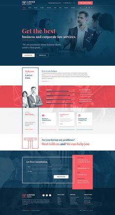 Lawyer firm. WordPress