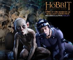 Behind The Scenes of The Hobbit: An Unexpected Journey: Andy Serkis and his alter-ego, Gollum.