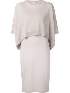 Brunello Cucinelli Облегающее Платье С Вязаным Верхом - Cuccuini - Farfetch.com