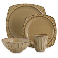 Society 16-Piece Dinnerware Set - Beige - Bed Bath u0026 Beyond  sc 1 st  Pinterest & Corelle Impressions Woodland Leaves 16-Piece Dinnerware Set Image 2 ...