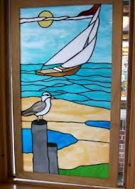 seagull stained glass pattern