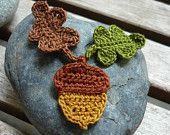 4pcs - Pumpkin Jack O Lantern Halloween Crochet Appliques - fine acrylic yarn - made to order. $2.40, via Etsy.