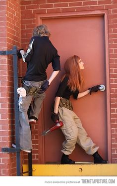 Real Life Kim Possible and Ron Stoppable… OMG THIS WOULD BE THE BEST COUPLES COSTUME EVAARRRRR!