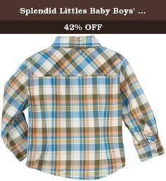 Splendid Littles Baby Boys' Woven Plaid Shirt, Plaid, 18 24 Months. Woven plaid button down.