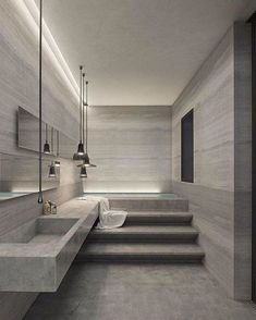 Dreaming of a designer or luxury bathroom? We've gathered together lots of gorgeous bathroom ideas for small or large budgets, including baths, showers, sinks and basins, plus bathroom decor ideas. Best Interior Design, Bathroom Interior Design, Luxury Interior, Home Decor Instagram, Contemporary Bathroom Designs, Contemporary Interior, Modern Design, Bathroom Layout, Bathroom Ideas