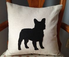 French Bulldog  Decorative Throw Pillow Cover  by JessiKCreations, $15.00