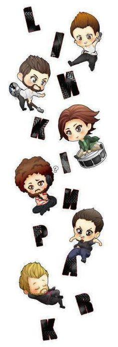 Linkin Park. cute, animated