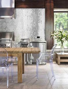 silver glass tile kitchen backsplash