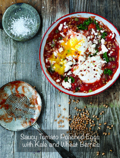 Make shakshuka with kale and wheat berries. | 3 Exciting Ways To Add Whole Grains To Your Breakfast