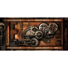 Steampunk Live Wallpaper ❤ liked on Polyvore featuring steampunk