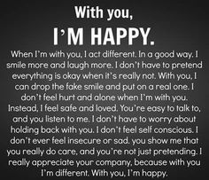 I'm happy.