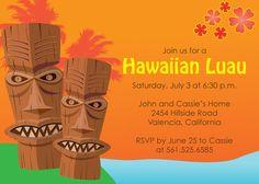 Printable Hawaiian Luau invitation design by DesignsMadeEasy, $12.00