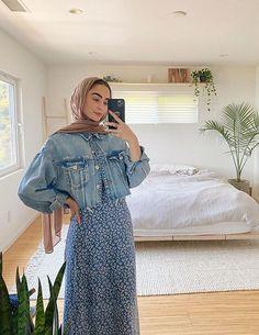Hijab Fashion Summer, Modest Fashion Hijab, Hijab Style Dress, Stylish Hijab, Modern Hijab Fashion, Street Hijab Fashion, Hijab Fashion Inspiration, Muslim Fashion, Long Skirt Fashion