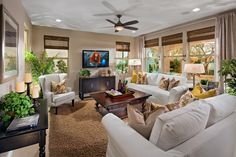 This Greatroom can be seen today in the Hunter Plan at The Gallery in Clovis by McCaffrey Homes
