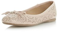 Womens shell pink trainers / pump from Dorothy Perkins - £29 at ClothingByColour.com