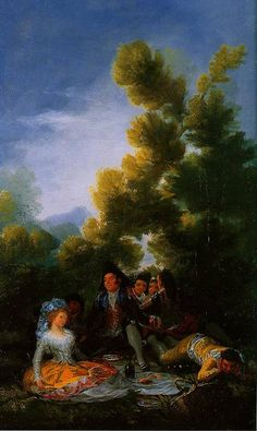 A picnic 1785-1790  Francisco De Goya  Discover the coolest shows in New York at www.artexperience...