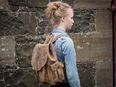 Boys And Girls Leather Backpack at Scaramanga Kids Backpacks, School Backpacks, Leather Satchel, Leather Backpack, Gender Neutral Colors, Natural Line, Vegetable Tanned Leather, School Bags, Boy Or Girl