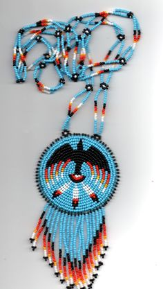 Dean Couchie (Ojibwe) Raven Necklace available at deancouchie on Etsy Native American Patterns, Native American Crafts, Native Beadwork, Native American Beadwork, Bead Loom Patterns, Beading Patterns, Beadwork Designs, Nativity Crafts, Beading Projects