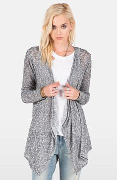Volcom 'Go Go Go' Open Cardigan available at #Nordstrom
