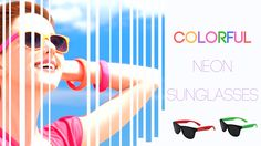 601a010df9 Paint the Occasion with  Personalized  Neon  Sunglasses