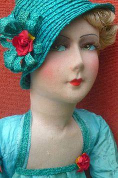 Antique French Boudoir Doll Paris 1920 RARE Fashion Doll Silk Hat | eBay