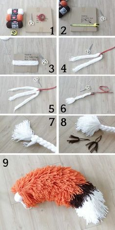 Best yarn fox tail tutorial ever! My kids loved their yarn fox tail, it's just so cute. Easy DIY fox tail for Halloween or just for fun! diy crafts for kids easy How to Make a Fox Tail Out of Yarn [With Pictures] Yarn Crafts For Kids, Fox Crafts, Easy Diy Crafts, Diy For Kids, Crafts To Make, Arts And Crafts, Fun Diy, Recycled Crafts, Creative Crafts