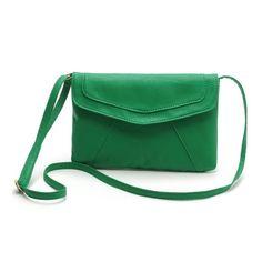 Herald Fashion Envelope Clutch Purse Candy Color Women Messenger Bag Casual Women Bag Vintage PU Leather Women Shoulder Bag