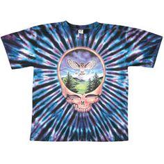 Grateful Dead Steal Your Face Owl Tie Dye T-shirt