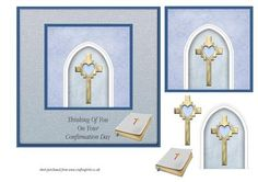 Arch Cross Confirmation Card male on Craftsuprint - Add To Basket!