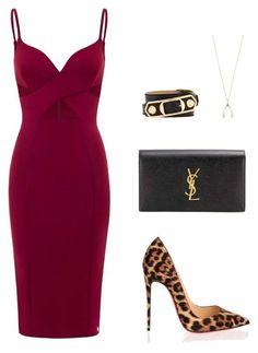 Aloura London/Christian Louboutin/Yves Saint Laurent/Jennifer Meyer Jewelry /Balenciaga Red dress/ Cheetah print heels/clutch/chic/fashion/date night Lila Outfits, Mode Outfits, Night Outfits, Classy Outfits, Chic Outfits, Outfit Night, Summer Outfits, Outfit Work, Dress Night