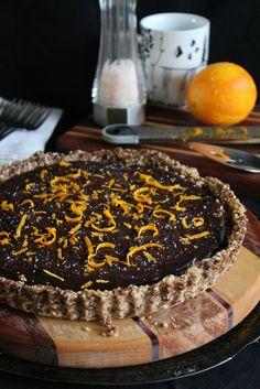 This Rawsome Vegan Life: chocolate caramel tart with orange & sea salt